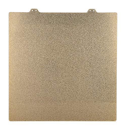 Accesorios para impresoras 3D 300x300mm Hoja de acero con revestimiento de polvo y PEI texturizado de doble cara Hoja de acero + Etiqueta magnética (lado B) Apto para Wanhao FDM Desktop 9 Anet E12