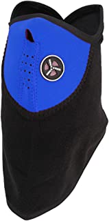 Multi-Protective Breathable Half Face Mask- Attractive, Lightweight – All Weather and Dust Protection - Full Cover from Nose to Neck (Blue)