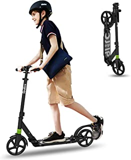 REDLIRO Kick Scooter for Adults/Teens with 2 Big Wheels, Max Weight 220lbs, 3 Adjustable Height Handle - Foldable Scooter ...