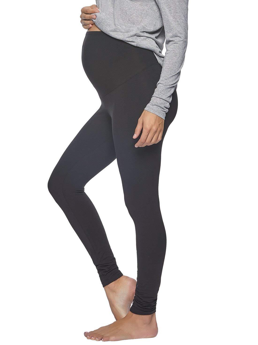 Velvety Soft Maternity Leggings for Women - Yoga Pants for Women, Maternity Clothes - (2-Pack)