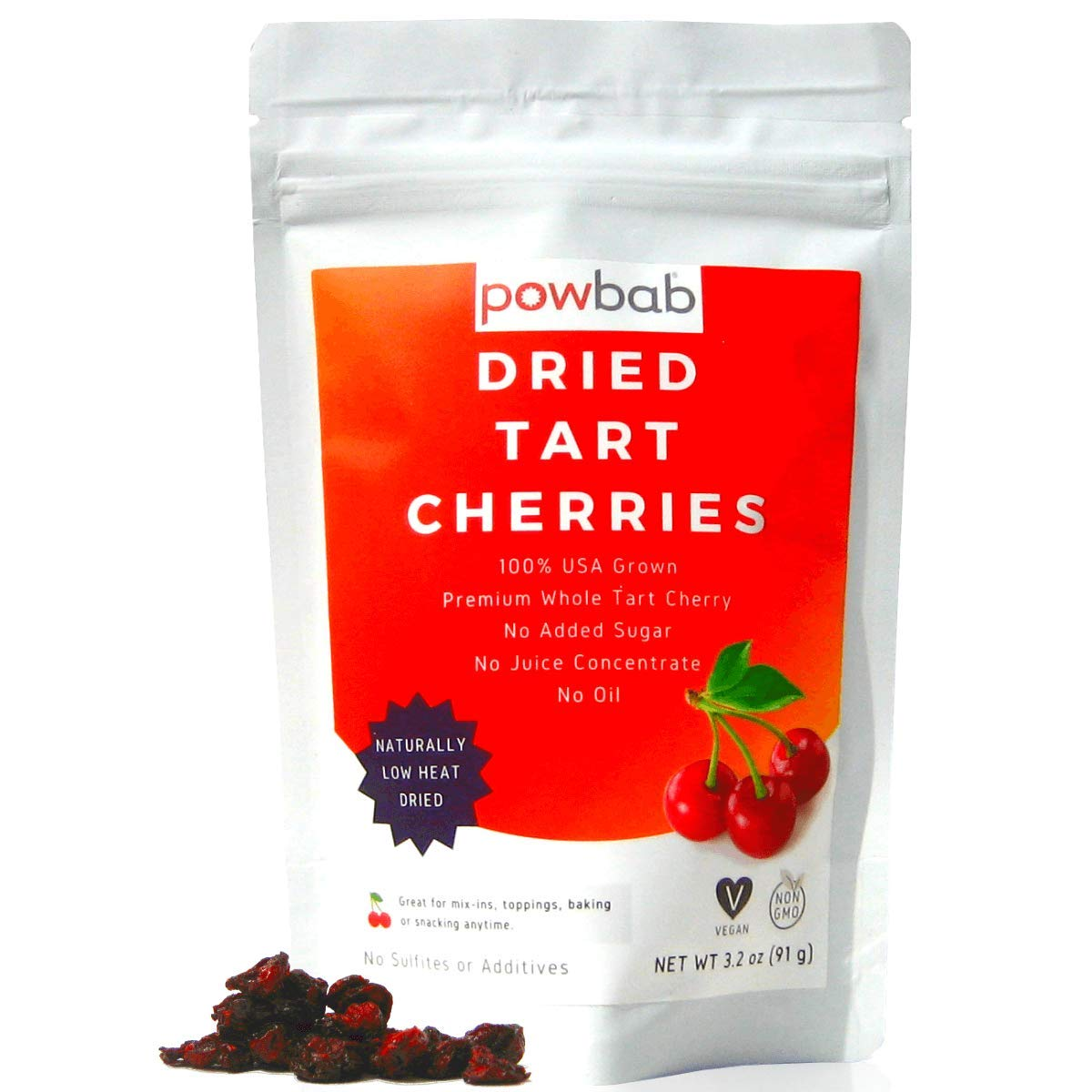powbab Dried Tart Cherries Unsweetened Attention brand Organic - USA 100% OFFicial Grown