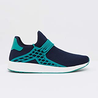Shoexpress Textured Low Ankle Walking Shoes with Lace Up Closure