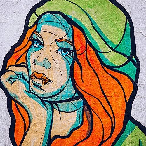 Berligram - Fine Art Fotografie aus Berlin, Street Art V, Foto auf Holz, 10x10cm