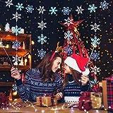 LANMOK Guirnalda Colgante Copo Nieve 36 piezas de Decoración Colgante de Copo de Nieve de Papel Azul Blanco Pancarta Adorno de Techo para Navidad Fiesta de Año Nuevo Invierno Reuniones Familiares