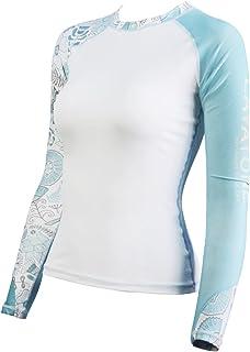 c8958b3313 LayaTone Rashguard Femme Lycra Surf T-Shirt Maillot Protection Solaire  Anti-UV Tankini Maillot