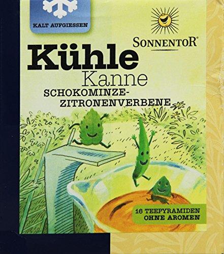 Sonnentor Schokominze-Zitronenverbene Kühle Kanne bio, Teepyramiden, 2er Pack (2 x 32 g)