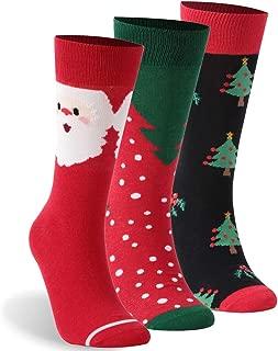 Christmas Socks, ZEAL WOOD Crew Socks Printed Fun Colorful Socks 1/3/6 Pairs