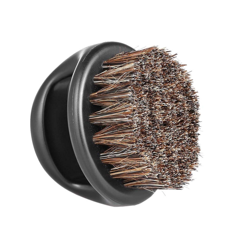 アジテーション従順な相対サイズMen's Beard Brush Facial Hair Comb Barber Neck Face Duster Hair Sweep Brush Mustache Shaving Brush for Hairdressing Salon Home