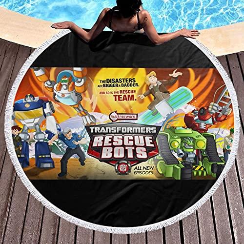 Transformers Rescue Bots Toalla de baño de viaje para playa, spa, yoga, súper absorbente, rápido y de secado suave de gran tamaño