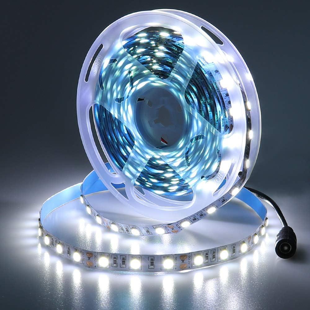 JOYLIT White Baltimore Mall LED Ranking TOP1 Strip Lights Light 6000K- 16.4ft 12V