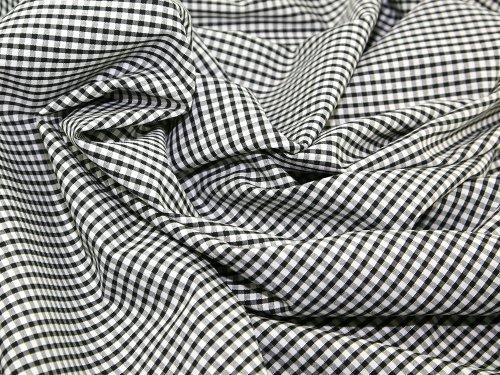 Tissu Vichy Noir 0,3 mm d'épaisseur 114 cm de largeur - vendu au mètre