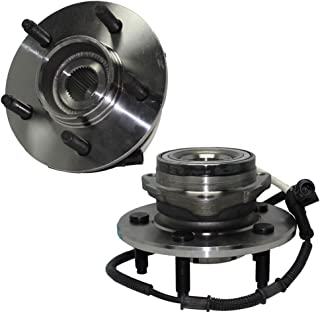 Detroit Axle - Both (2) Front Wheel Hub and Bearing Assemblies w/14mm Bolt Holes for 4x4 00-03 F-150 & 04 Heritage