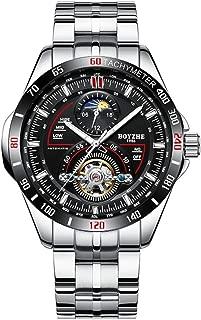 BOYZHE Brand Fashion Men's Automatic Mechanical Watch Stainless Steel Men Multifunctional Sports Man Wristwatch
