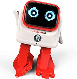 CHOVEIN Kids Toys Dancing Robot for Boys and Girls, Educational Dancing Robot Toys for Kids with Stereo Bluetooth Speakers, Rechargeable Dance Robot Follow Music Beats Rhythm, All Age Children - Red