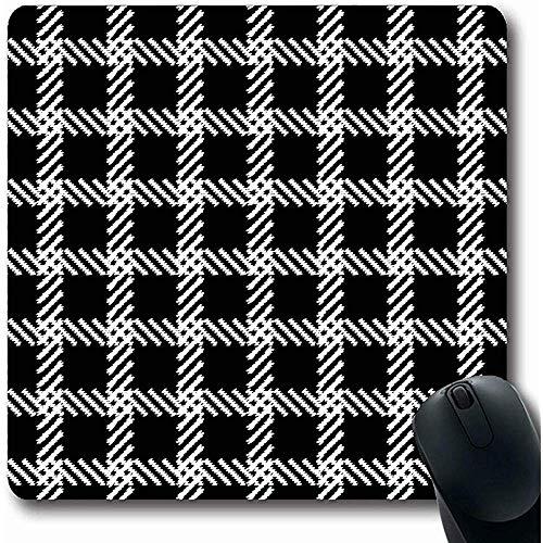 Desk Pad,Plaid Blouse Ethnic Boho Cage Abstract Endless Bohemian Canvas Carpet Doodle Dress Design Tile Mouse Mat Anti-Slip Rectangle Gaming Mouse Pad,25Cmx30Cm