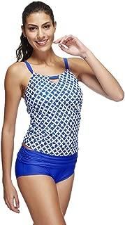 Sport Monokini, QIQIU Women's Sexy Casual Halter Plaid Prints Mid Waist Plus Size Bathing Suit Beachwear Swimwear
