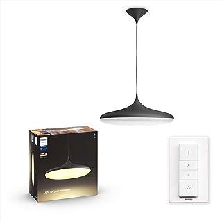 Philips Hue Cher Lámpara Colgante Inteligente LED con Bluetooth, Luz Blanca de Cálida a Fría, Compatible con Alexa y Google Home