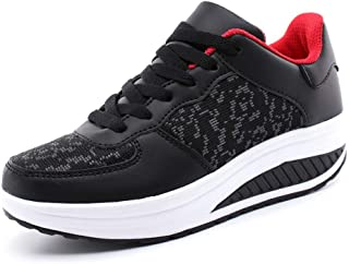 Women's Walking Shoes Athletic Running Non Slip Lightweight Casual Soprt Fashion Wedge Platform Sneakers