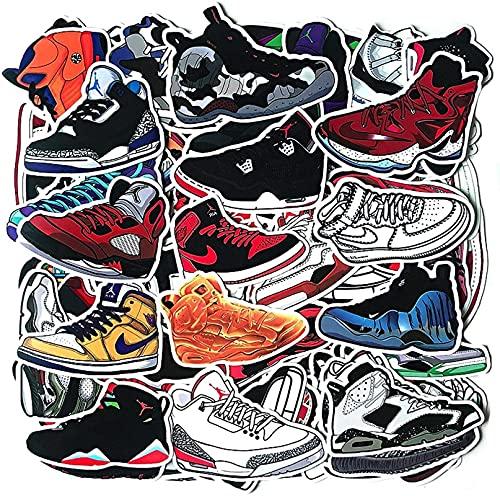 Turtle Story 100 piezas de zapatos de baloncesto deportivos equipaje portátil pegatinas personalizadas JXNB