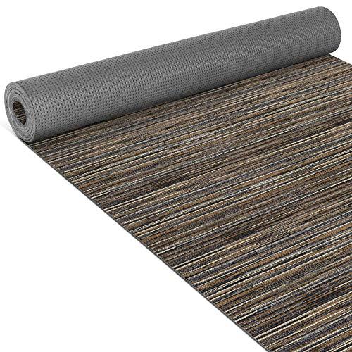 ANRO Küchenläufer Teppich Läufer gewebt Muster Teppichoptik Braun 65x170cm Viele Größen/Muster