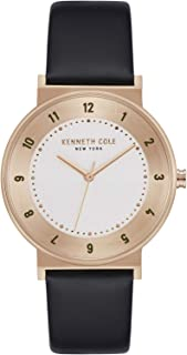 Kenneth Cole Men's SILVER Dial Genuine Leather Band Watch - KC50076003