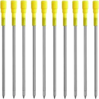 MengRan 3.2'' Ballpoint Pen Refills for Big Diamond/Crystal Pen, Refill for Rose Gold Diamond Pen,Black Ink (Pack of 10)