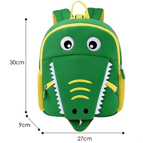 HPADR KinderrucksackSchultaschen Für Jungen mädchen Niedliche Tiere Design wasserdichte Kinder Schulrucks e Student Kinder Tasche Z Krokodil