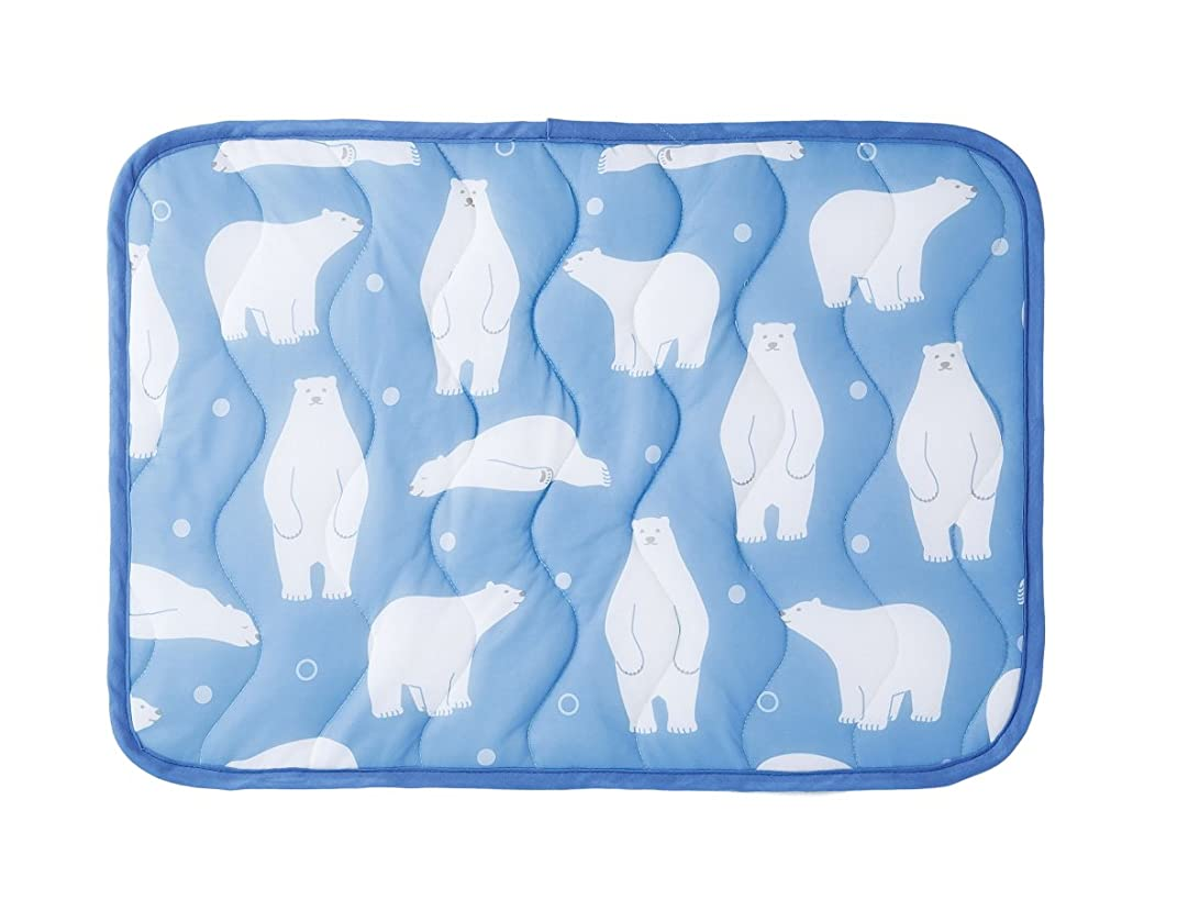 万歳庭園船乗り触れた瞬間北極気分 白クマ柄 ひんやり 冷感 枕カバー 枕パッド 熱帯夜対策 丸洗い可