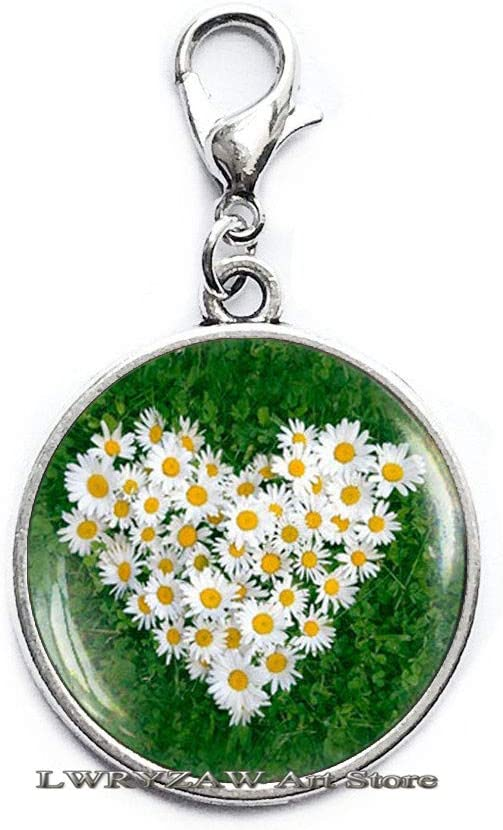 Daisy Heart Lobster Clasp Flower Nature Jewe Zipper Finally popular brand Outlet ☆ Free Shipping Pull