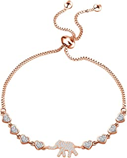 KUIYAI Elephant Bracelet Good Luck Elephant Jewelry Dainty Delicate Elephant Bracelet Gifts for Women Girls