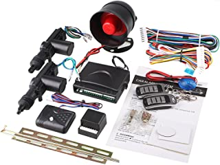 Sedeta Car security Alarm 2 Door Remote Control Central Lock Locking Kit Set with shock sensor immobiliser