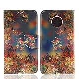Ooboom® Motorola Moto E4 Plus Hülle Flip PU Leder Schutzhülle Tasche Hülle Cover Wallet Brieftasche Stand mit Kartenfächer für Motorola Moto E4 Plus - Bunt Blume