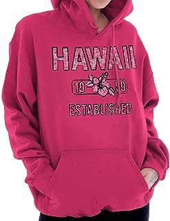 Hawaii Hibiscus Vintage Workout Americana Hoodie