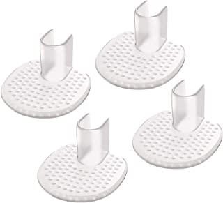 LHKJ 4Pcs Silicone Toe Guards Cushions For Personal Care, Thong Sandal Toe Protectors For Women And Men, Gel Toe Guards Fo...
