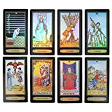DDZ Tarot Cards, Rider Waite Tarot Cards, 78 Tarot Cards Future Telling Game with Colorful Box