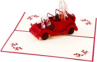 Creative 3D Greeting Card Handmade Paper Carved Hollow Birthday Classic Car Wedding Invitation