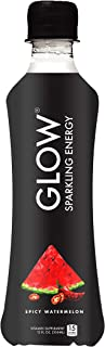 GLOW Beverages Premium Sparkling Infused Energy Drink - 12 Pack 10.8oz Plastic - Spicy Watermelon - Vitamins & Antioxidants