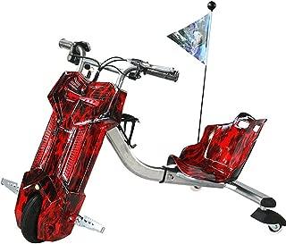 YIAIY Infantil Eléctrico Triciclo, Drift Temporizador De Cabina, Cola Deriva De Coches, Eléctrico Monopatín Kart, Apto para Niños De Más De 5 Años De Edad O Adultos,B