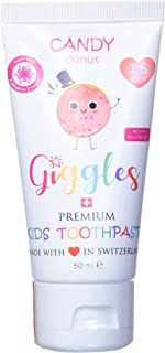 Giggles Premium Kids Toothpaste Candy Donut Toothpaste 1-6 Yrs 50 milliliter