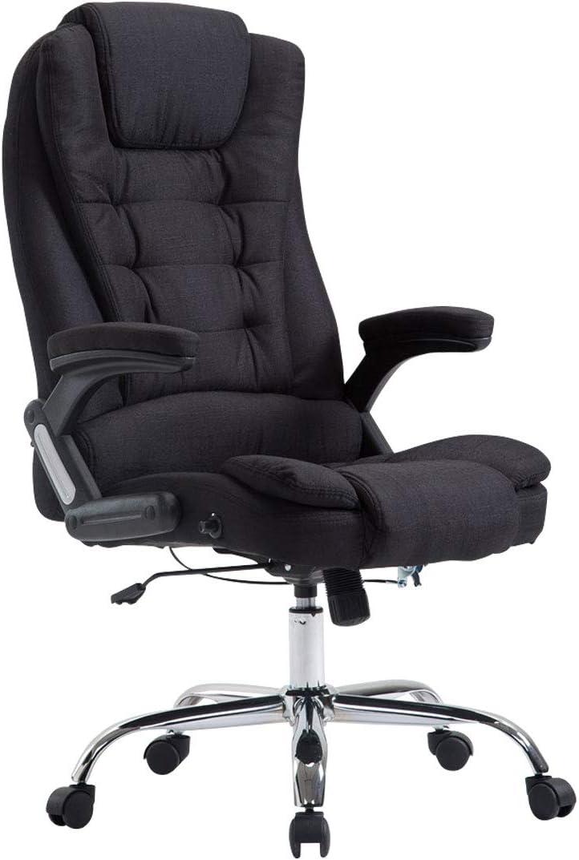 CLP XXL Chefsessel Thor mit Stoffbezug, max. belastbar bis 150 kg, Bürostuhl mit Armlehnen, höhenverstellbar, Drehstuhl mit dickem Polster,…