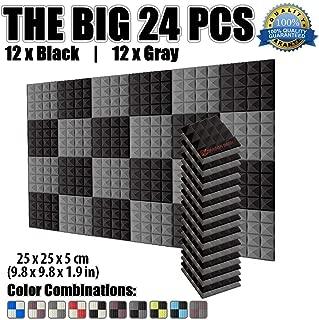 ToDIDAF Lot de 48 panneaux en mousse acoustique anti-bruit absorbant la poussi/ère haute densit/é pour studio KTV salles de r/éunion insonorisant et anti-bruit 30 x 30 x 2,5 cm D