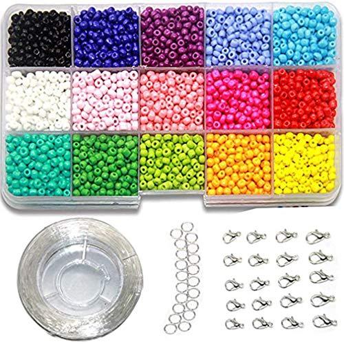 Perlas de Cristal Hechas a Mano determinadas modificadas para requisitos particulares del Grano del mijo de 3m m Coloridas