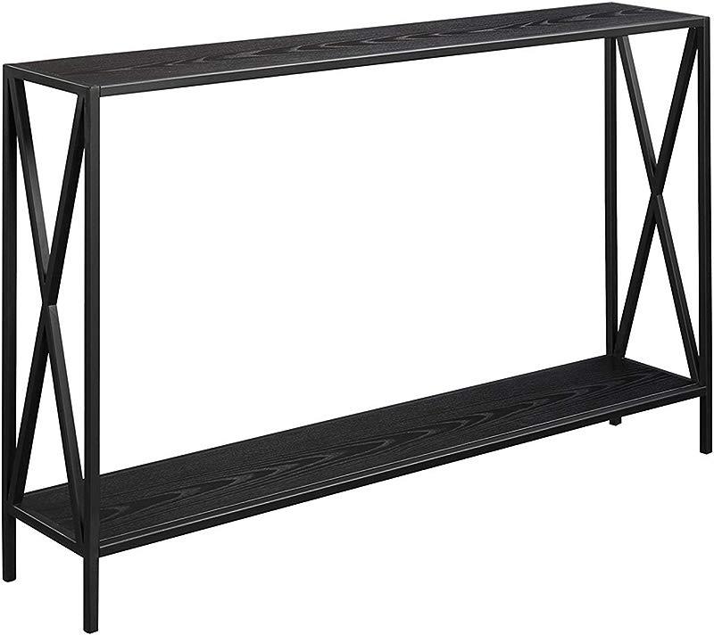 Convenience Concepts 161899BL Tucson Console Table Black