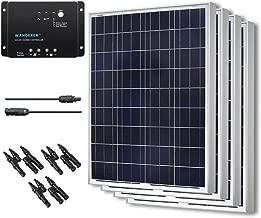 Renogy 400W Polycrystalline Bundle Solar Panel Kit with 4 packs 100W Solar Panels, Wanderer Li 30A PWM Charge Controller, Renogy 9in MC4 Adaptor Kit and Solar MC4 Branch Connectors MMF+FFM