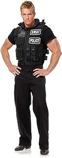 Swat Team Vest Adult Costume, Black