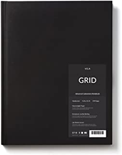 Vela Sciences Advanced Hardcover Lab Notebook, 9.25 x 11.75 inches, 144 pages (1-Pack, Grid)