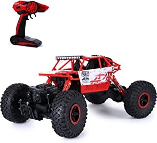 HB P1802 Remote Control Car RC Drive Toy Car 4 Wheel Drive Off-road Race Truck Toy 1/18 Scale Remote Control Car Red