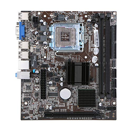 Festnight Motherboard Mainboard Intel G41 Chipset SATA-Anschlussbuchse LGA771 / LGA775 DDR3 8 GB für Windows 7/10