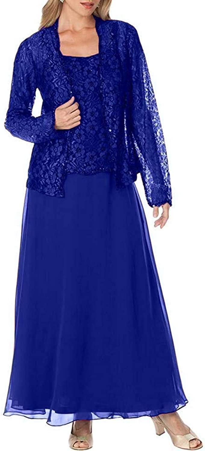 UGLY Womens 2 Pieces Mother of The Bride Dresses with Lace Jacket UG098