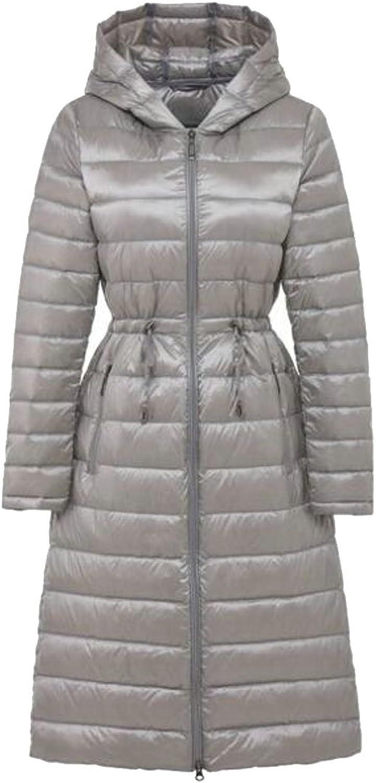 BYWXWomen Winter Puffer Down Coat Hooded Long Parka Jacket Outwear